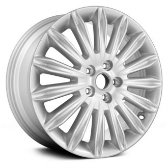 "Replace® - 17"" Remanufactured 15 Spokes Bright Silver Metallic Full Face Factory Alloy Wheel"