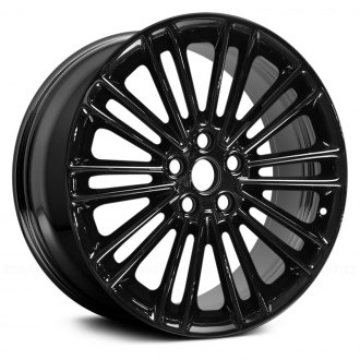 "Replace® - 18"" Remanufactured 10 Double Spokes All Painted Gloss Black Factory Alloy Wheel"