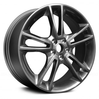 "Replace® - 19"" Remanufactured 5 Double Spokes Black Hyper Silver Factory Alloy Wheel"