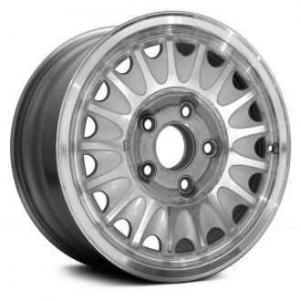 "Replace® - 15"" Remanufactured 17 Slots Machined and Silver Factory Alloy Wheel"
