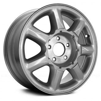 cadillac eldorado replacement factory wheels rims carid 1978 Cadillac Eldorado replace 16x7 7 slot silver alloy factory wheel remanufactured
