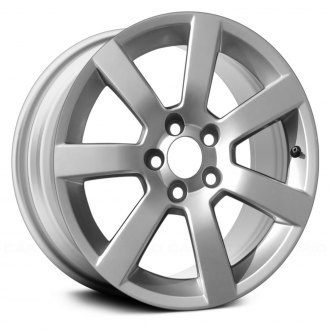 2016 cadillac ats replacement factory wheels rims carid 2015 Cadillac DTS replace 17x8 7 spoke all painted light silver metallic alloy factory wheel