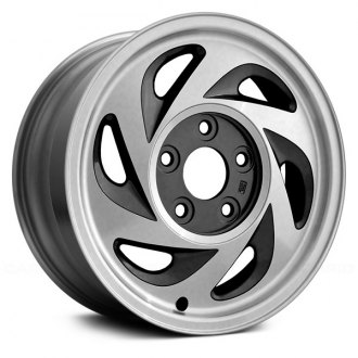 "Replace® - 15"" 6 Slots Dark Sparkle Charcoal Factory Alloy Wheel"