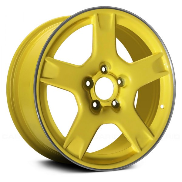 "Replace® - 18"" Remanufactured Rear 5 Spokes Yellow Factory Alloy Wheel"