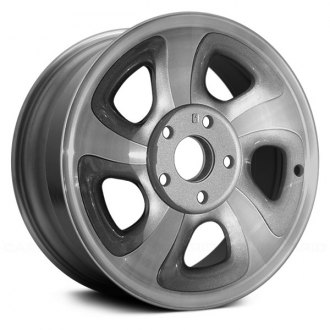 "Replace® - 15"" Remanufactured 5 Spokes Charcoal Gray Factory Alloy Wheel"