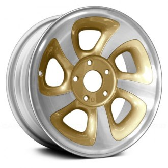 "Replace® - 15"" Remanufactured 5 Spokes Gold Factory Alloy Wheel"