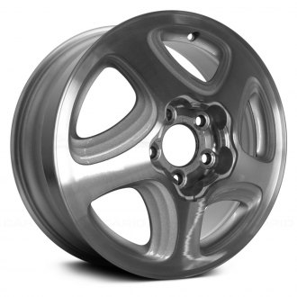 "Replace® - 16"" Remanufactured 5 Slots Sparkle Silver Factory Alloy Wheel"