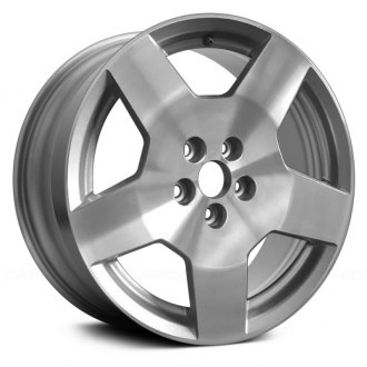 "Replace® - 18"" Replica 5 Spokes Machined and Silver Factory Alloy Wheel"