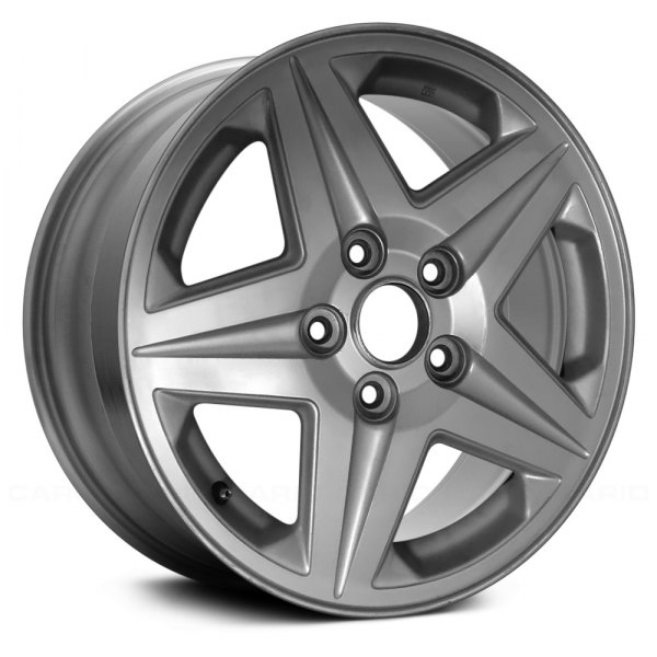 "Replace® - 16"" Remanufactured 5 Spokes Light Silver Textured Factory Alloy Wheel"