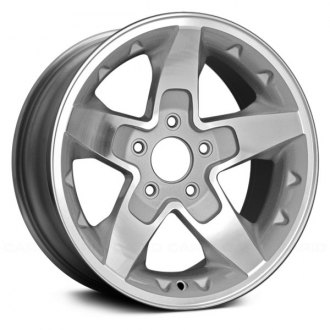 "Replace® - 16"" 5 Spokes Medium Gray Machined Factory Alloy Wheel"