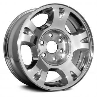 chevy avalanche replacement factory wheels rims carid 2002 Chevy Avalanche Parts replace 17x7 5 5 spoke chrome alloy factory wheel remanufactured