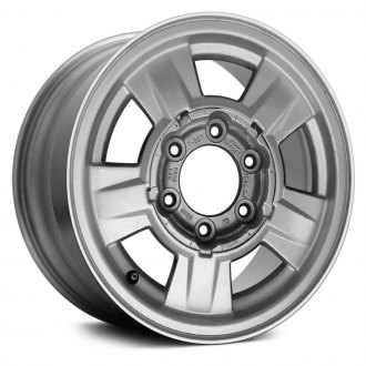 2004 chevy colorado replacement factory wheels rims carid Chevy Colorado Extended Cab V8 replace 15x6 5 5 spoke chrome alloy factory wheel remanufactured