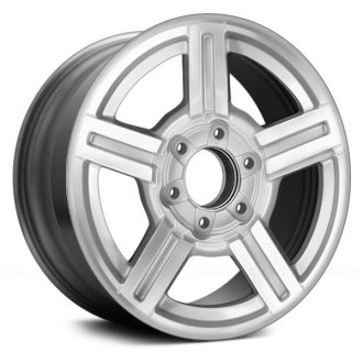 chevy colorado replacement factory wheels rims carid 05 Chevy Colorado Radio replace 17x8 5 spoke silver machined alloy factory wheel remanufactured