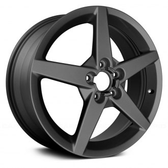 "Replace® - 18"" Remanufactured 5 Spokes Charcoal Silver Factory Alloy Wheel"