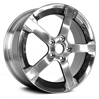 "Replace® - 17"" Remanufactured 5 Spokes Bright Polished Factory Alloy Wheel"