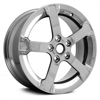 "Replace® - 17"" Remanufactured 5 Spokes Chrome Factory Alloy Wheel"