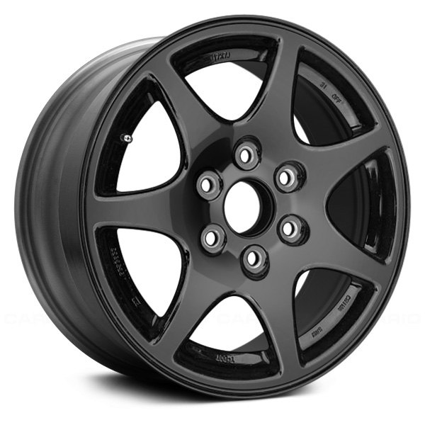 "Replace® - 17"" Remanufactured 7 Spokes Black Factory Alloy Wheel"