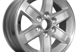 "Replace® - 17"" Remanufactured 6 Spokes Machined with Silver Pockets Factory Alloy Wheel"