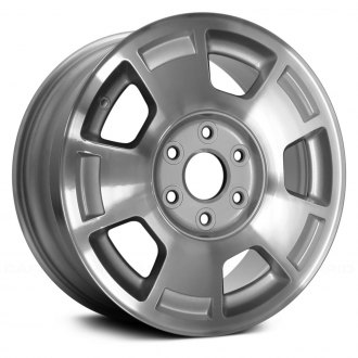 "Replace® - 17"" 5 Spokes Machined with Silver Pockets Factory Alloy Wheel"