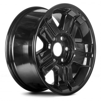 "Replace® - 18"" Remanufactured 5 Spokes with Groove Dark PVD Chrome Factory Alloy Wheel"