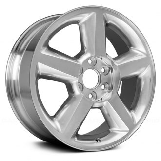2010 chevy tahoe replacement factory wheels rims carid 2015 Chevrolet Tahoe Z71 Interior replace 20x8 5 5 spoke bright polished alloy factory wheel remanufactured