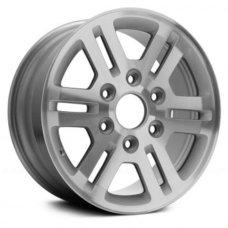 chevy colorado replacement factory wheels rims carid Spider Door replace 16x6 5 6 double spoke machined and silver alloy factory wheel