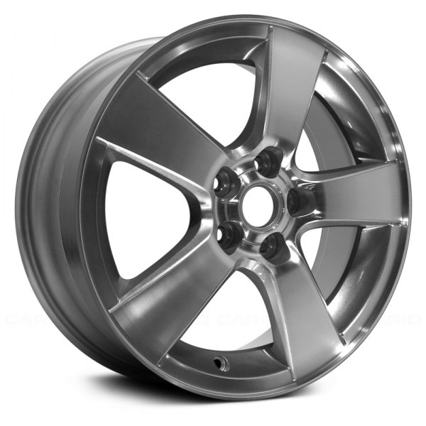 "Replace® - 16"" Remanufactured 5 Spokes Machined and Sparkle Silver Met Factory Alloy Wheel"