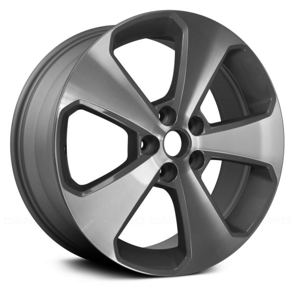 "Replace® - 17"" Replica 5 Spokes Machined and Medium Gray Factory Alloy Wheel"