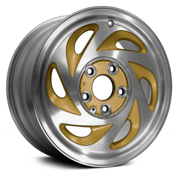 "Replace® - 15"" Remanufactured 6 Spokes Gold Factory Alloy Wheel"