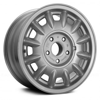 "Replace® - 15"" 12-Slot Silver Factory Alloy Wheel (Remanufactured)"