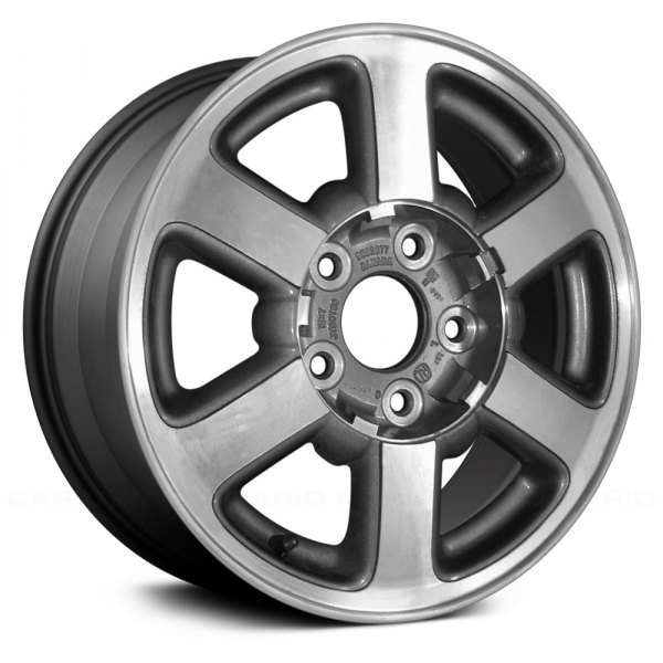 "Replace® - 15"" Remanufactured 6 Spokes Charcoal Gray Factory Alloy Wheel"