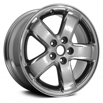 "Replace® - 17"" Replica 5 Spokes Cladded Chrome Factory Alloy Wheel"