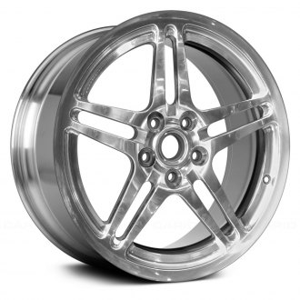 "Replace® - 17"" Remanufactured 5 Split Spokes Bright Polished Factory Alloy Wheel"