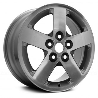 "Replace® - 16"" Remanufactured 5 Spokes Machined Face Factory Alloy Wheel"