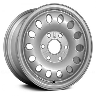 "Replace® - 16"" Remanufactured 14 Oval Vents Silver Factory Alloy Wheel"