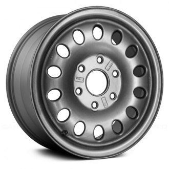 "Replace® - 16"" Remanufactured 14 Oval Vents Medium Sparkle Charcoal Full Face Factory Alloy Wheel"