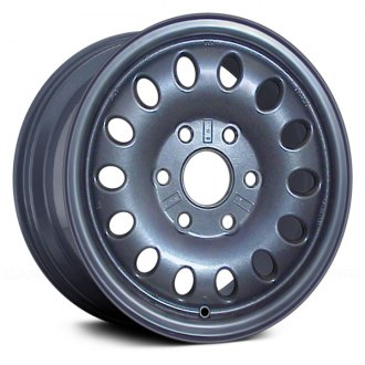 "Replace® - 16"" Remanufactured 14 Oval Vents Blue Factory Alloy Wheel"
