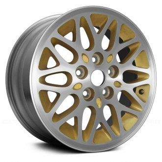 "Replace® - 15"" Remanufactured 10 Spokes Gold Factory Alloy Wheel"