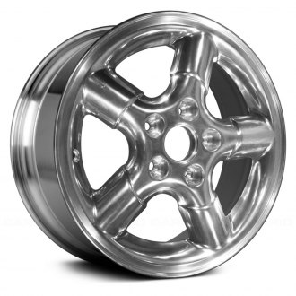 "Replace® - 15"" 5-Spoke Bright Polished Factory Alloy Wheel (Remanufactured)"