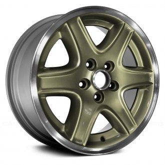 "Replace® - 16"" Remanufactured 6 Spokes Green Factory Alloy Wheel"