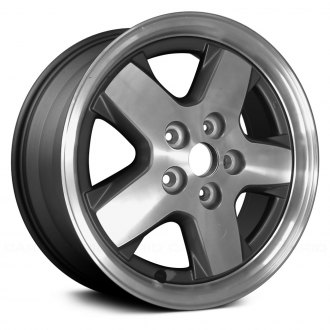 "Replace® - 16"" Remanufactured 5 Spokes Charcoal Gray Factory Alloy Wheel"