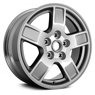 2006 jeep grand cherokee replacement factory wheels rims carid 08 Jeep Grand Cherokee replace 17x7 5 5 spoke chrome alloy factory wheel remanufactured