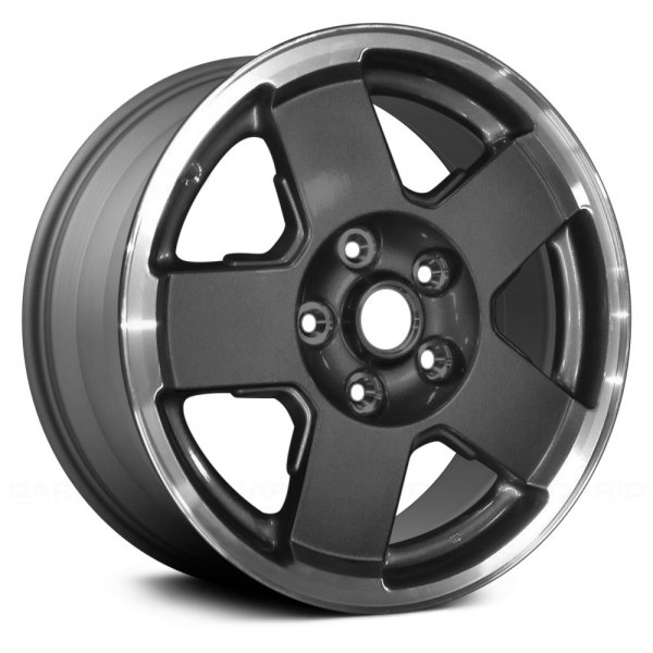 "Replace® - 17"" Remanufactured 5 Flat Spokes Charcoal Gray Factory Alloy Wheel"