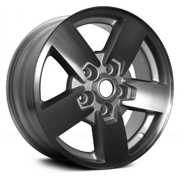 "Replace® - 17"" Remanufactured 5 Spokes Machined and Silver Factory Alloy Wheel"