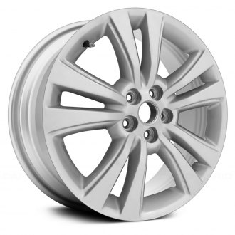 "Replace® - 18"" Remanufactured 5 Double Spokes All Painted Bright Sparkle Silver Factory Alloy Wheel"