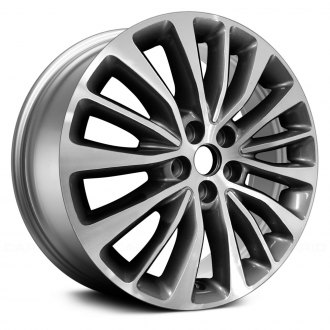 "Replace® - 18"" Remanufactured 15 Spokes Machined and Medium Smoked Hyper Silver Factory Alloy Wheel"