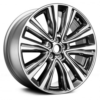 "Replace® - 20"" Remanufactured 5 Spokes Machined and Dark Smoked Hyper Silver Factory Alloy Wheel"