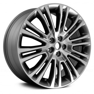"Replace® - 20"" Remanufactured 5 Double Spokes Machined and Dark Silver Metallic Factory Alloy Wheel"
