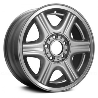 "Replace® - 16"" Remanufactured 6 Fluted Spokes All Painted Silver Factory Alloy Wheel"