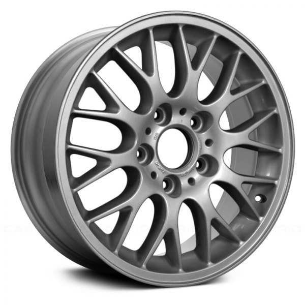 "Replace® - 16"" Remanufactured Forked Spokes All Painted Silver Factory Alloy Wheel"